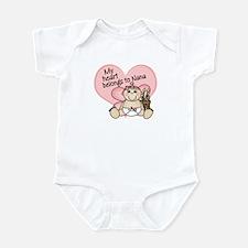My Heart Belongs to Nana GIRL Infant Bodysuit