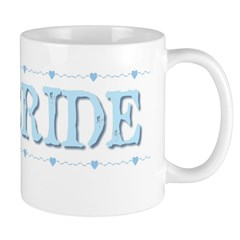 Bride & Hearts in Blue, Coffee Mug