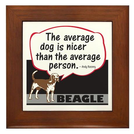 Beagle-Average Person - Framed Tile