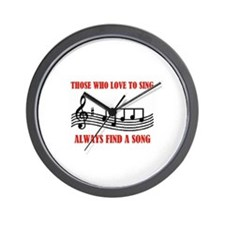 LOVE TO SING Wall Clock