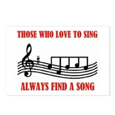 LOVE TO SING Postcards (Package of 8)