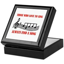 LOVE TO SING Keepsake Box