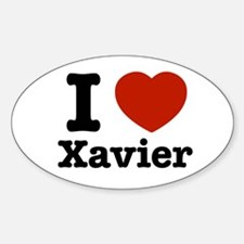 I love Xavier Oval Decal