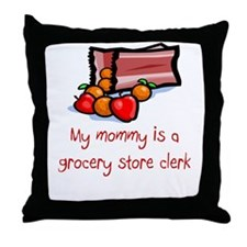 Grocery Store Clerk Throw Pillow