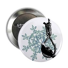 "BIRD on NOOSE 2.25"" Button"