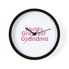 Worlds Geatest Grandma Wall Clock