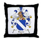 Baens Family Crest Throw Pillow