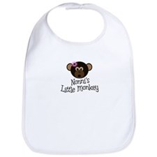 Nonni's Little Monkey GIRL Bib