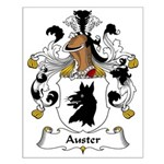 Auster Family Crest Small Poster