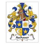 Aschauer Family Crest Small Poster