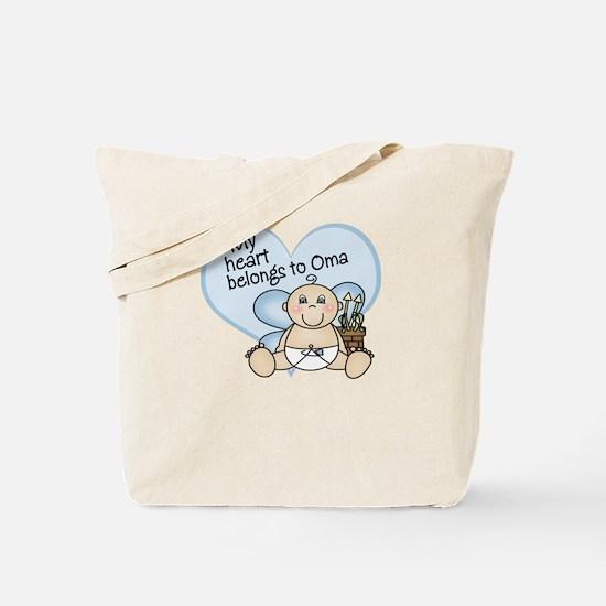 My Heart Belongs to Oma BOY Tote Bag