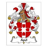 Apel Family Crest Small Poster