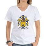 Amman Family Crest Women's V-Neck T-Shirt