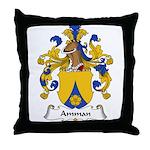 Amman Family Crest Throw Pillow