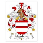 Altenburg Family Crest Small Poster