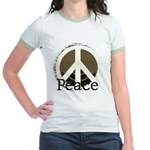 Brick Wall Peace Design Jr. Ringer T-Shirt