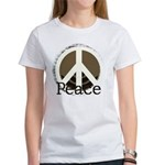 Brick Wall Peace Design Women's T-Shirt