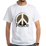 Brick Wall Peace Design White T-Shirt