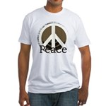 Brick Wall Peace Design Fitted T-Shirt