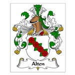 Alten Family Crest Small Poster