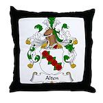 Alten Family Crest Throw Pillow