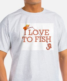 I Love To Fish T-Shirt