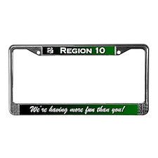 Region 10 License Plate