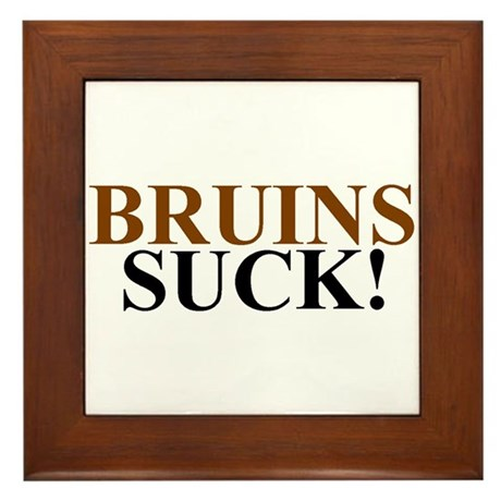 Bruins Suck! Framed Tile