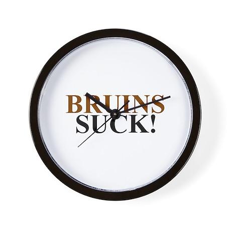 Bruins Suck! Wall Clock