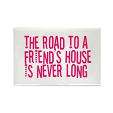 The Road To a Friend's House Rectangle Magnet (100