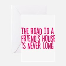 The Road To a Friend's House Greeting Card