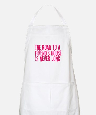 The Road To a Friend's House BBQ Apron