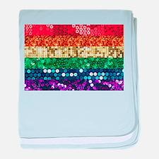 sequin pride flag baby blanket