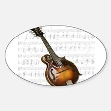 Mandolin and Sweet Music Oval Decal