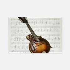 Mandolin and Sweet Music Rectangle Magnet (10 pack