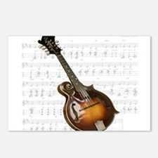 Mandolin and Sweet Music Postcards (Package of 8)