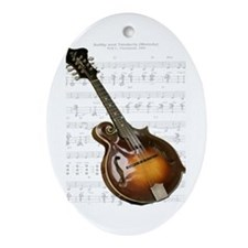 Mandolin and Sweet Music Oval Ornament