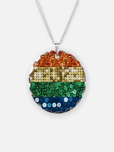 sequin pride flag Necklace