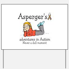Aspergers adventures in AUTIS Yard Sign