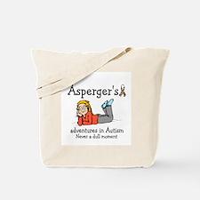 Aspergers adventures in AUTIS Tote Bag