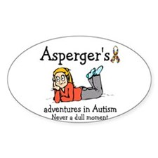 Aspergers adventures in AUTIS Oval Bumper Stickers