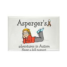Aspergers adventures in AUTIS Rectangle Magnet
