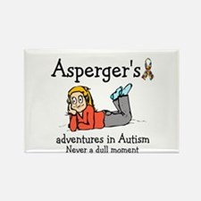 Aspergers adventures in AUTIS Rectangle Magnet