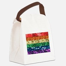 sequin pride flag Canvas Lunch Bag