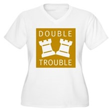 chess_double trouble_B Plus Size T-Shirt
