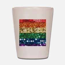 sequin pride flag Shot Glass