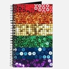 sequin pride flag Journal