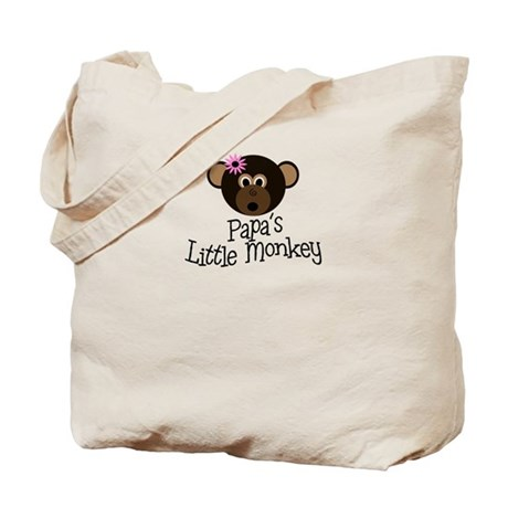 Papa's Little Monkey GIRL Tote Bag