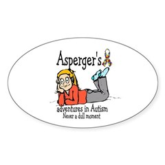 Aspergers adventures in AUTIS Oval Decal