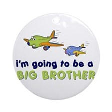 :::big brother plane front only ::: Ornament (Roun